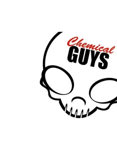 Chemical Guys White / Red Skull Sticker